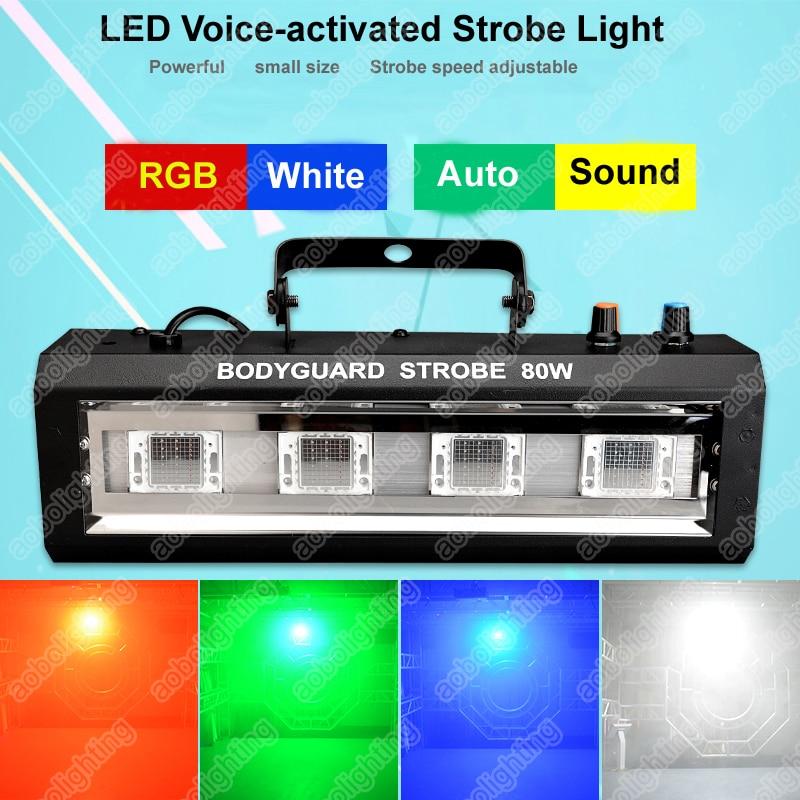 4x 20W New DJ strobe stage lights KTV Bar Flash Light Disco Lighting Power Flash Lamp Ballroom stage flashing lights RGB/White