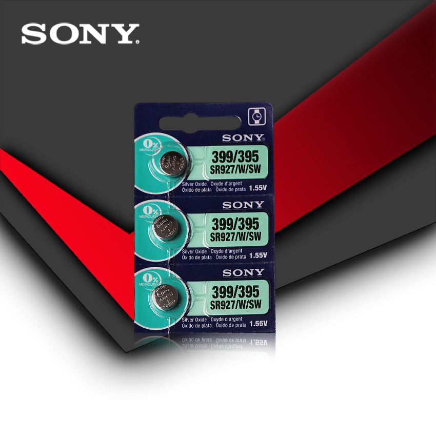 3pcs New Sony 100% Original 395 SR927SW 399 SR927W LR927 AG7 1.55V Watch Battery SR927SW 395 Button Coin Cell MADE IN JAPAN
