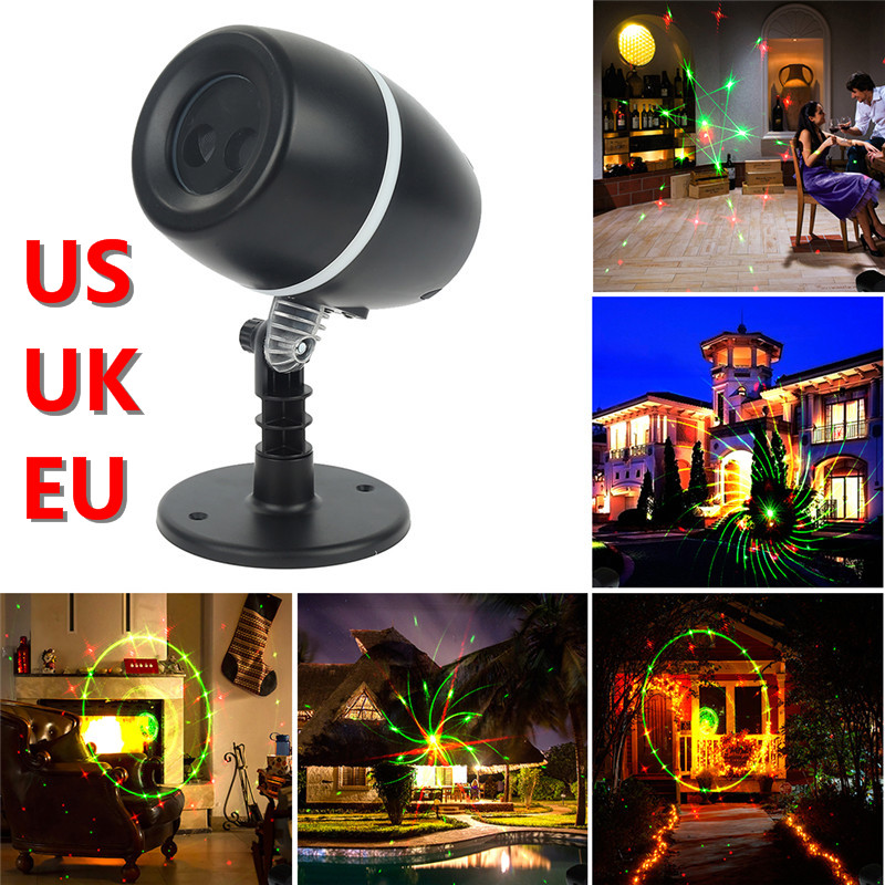 Christmas Decoration 9 Types Laser Fairy Light Projector LED Stage Lights Waterproof Outdoor Red Green Star Lights Garden Round outdoor garden decoration waterproof elf christmas lights star laser projector showers lantern flashlight stage light
