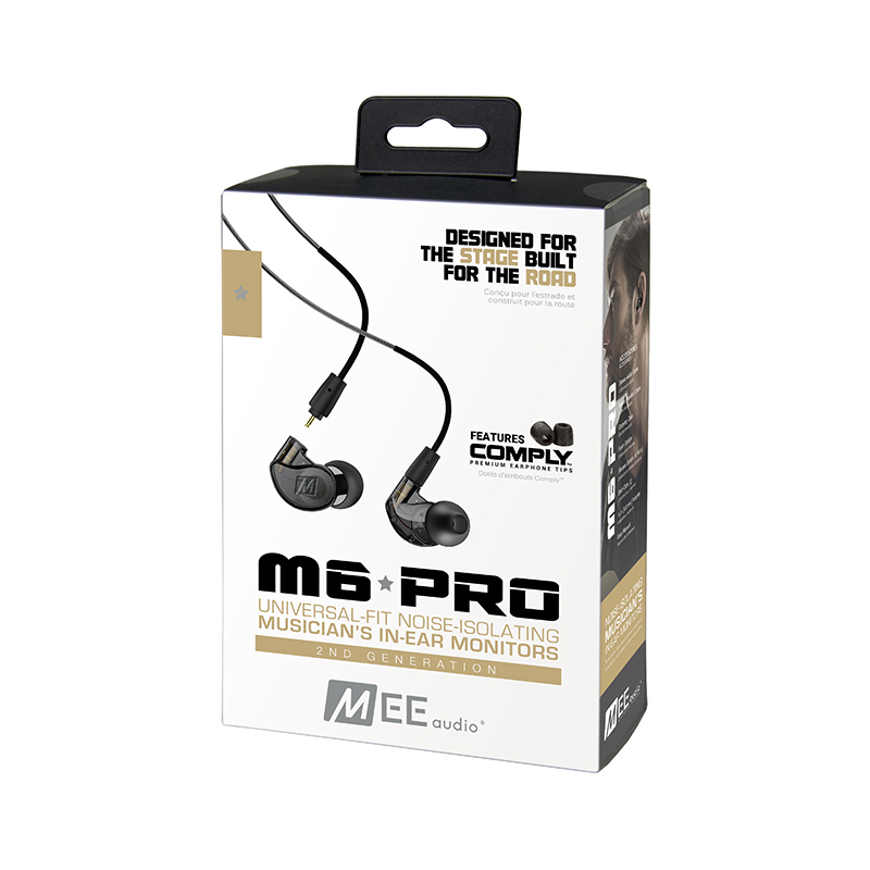 2018 MEE Audio M6 PRO 2nd Noise Canceling 3.5mm HiFi In-Ear Monitors Earphones with Detachable Cables Wired Free Shipping 100% original mee audio m6 pro universal fit noise isolating earphones professional musician s in ear monitors headset with box