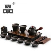 TANGPIN black crockery japanese ceramic teapot kettle tea cup for puer tea pot set japanese tea set porcelain