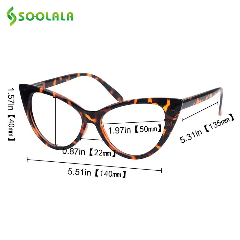 6d7943906b6 SOOLALA Wholesale 12 PCS Ladies Designer Cat Eye Reading Glasses Women  Customized Strengths Full Frame Eyeglasses Reader Glasses-in Reading Glasses  from ...