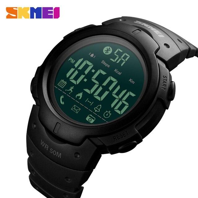 Inteligente Relógio do Esporte dos homens Da Marca SKMEI Moda Câmera Remota de Calorias Pedômetro Smartwatch Bluetooth Lembrete Digital relógios de Pulso