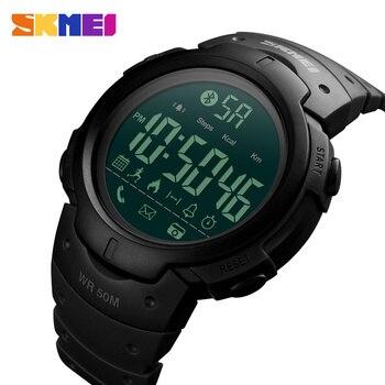 Montre intelligente Sport homme SKMEI marque podomètre de mode caméra à distance calories Bluetooth Smartwatch rappel montres numériques