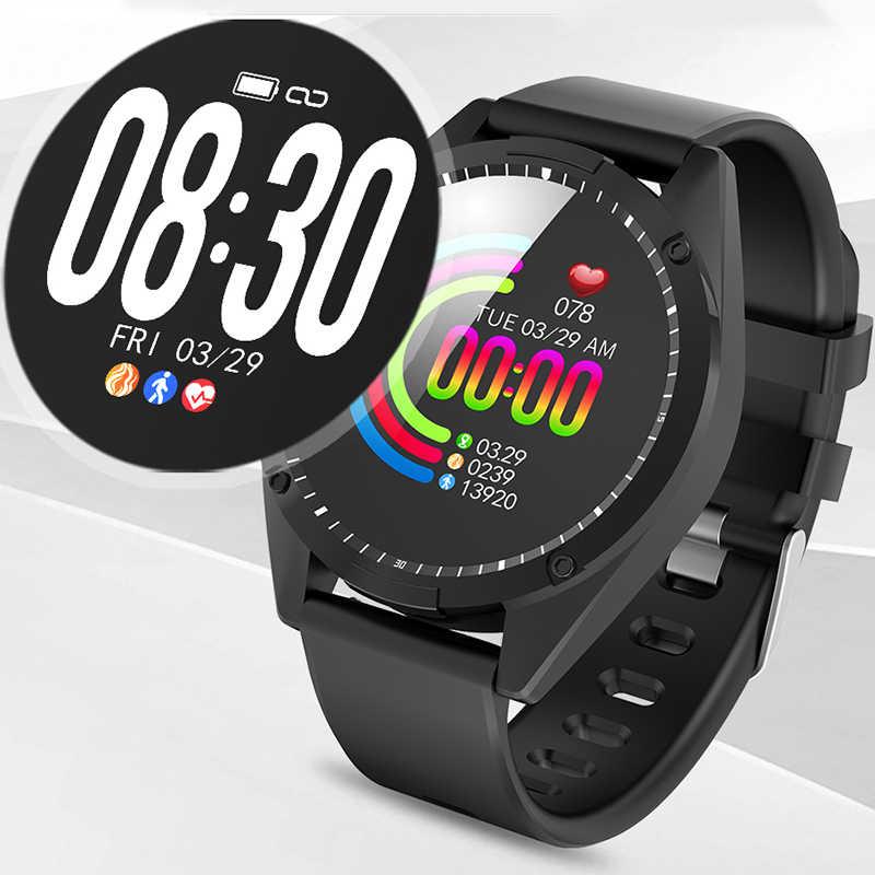 Smart Horloge Mannen Vrouwen Smart armband Oled-scherm Hartslagmeter Bloeddruk Fitness tracker Sport smartwatch Android IOS