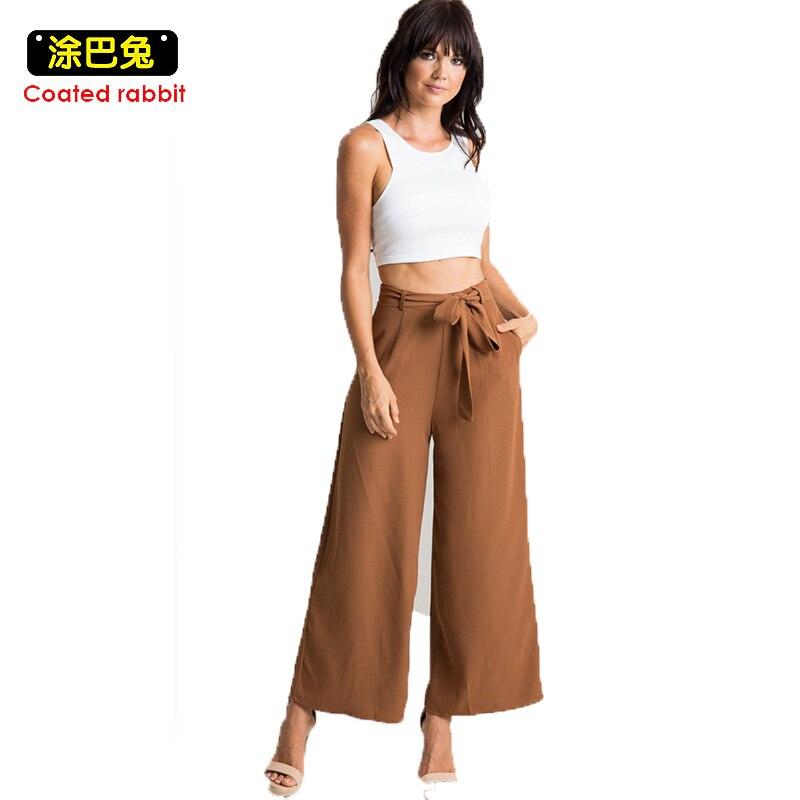 CR Women   Wide     Leg     Pants   Vintage Elastic Waist Trousers Casual Oversized   Pants   Korean   Wide     Leg     Pants