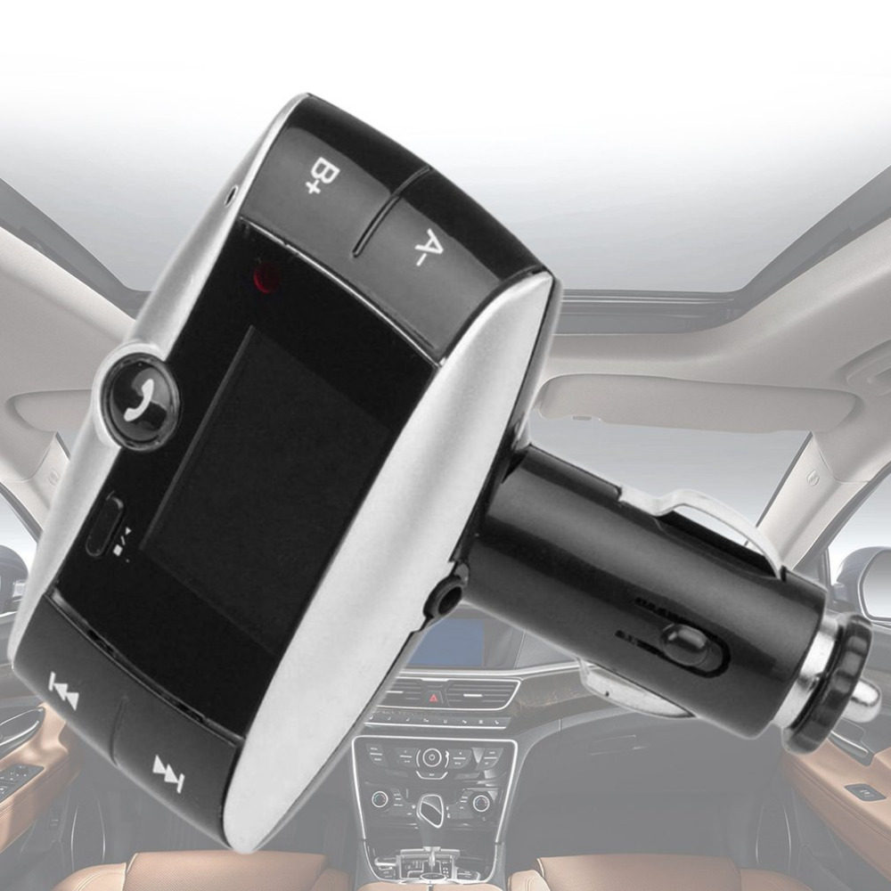 Portable Car MP3 Audio Player FM Transmitter Wireless Modulator Car Bluetooth Kit Hands Free USB Charger TF Slot Drop Shipping