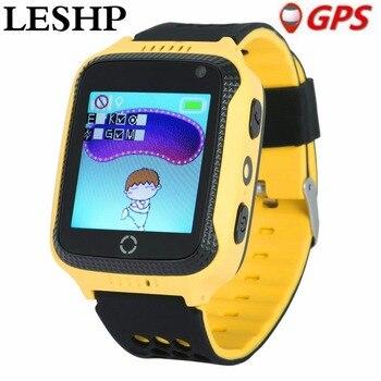 LESHP GPS Смарт-часы с фонариком детские часы 1,44 сенсорный экран SOS Вызов местоположение устройства трекер для детей безопасный PK Q50 Q100