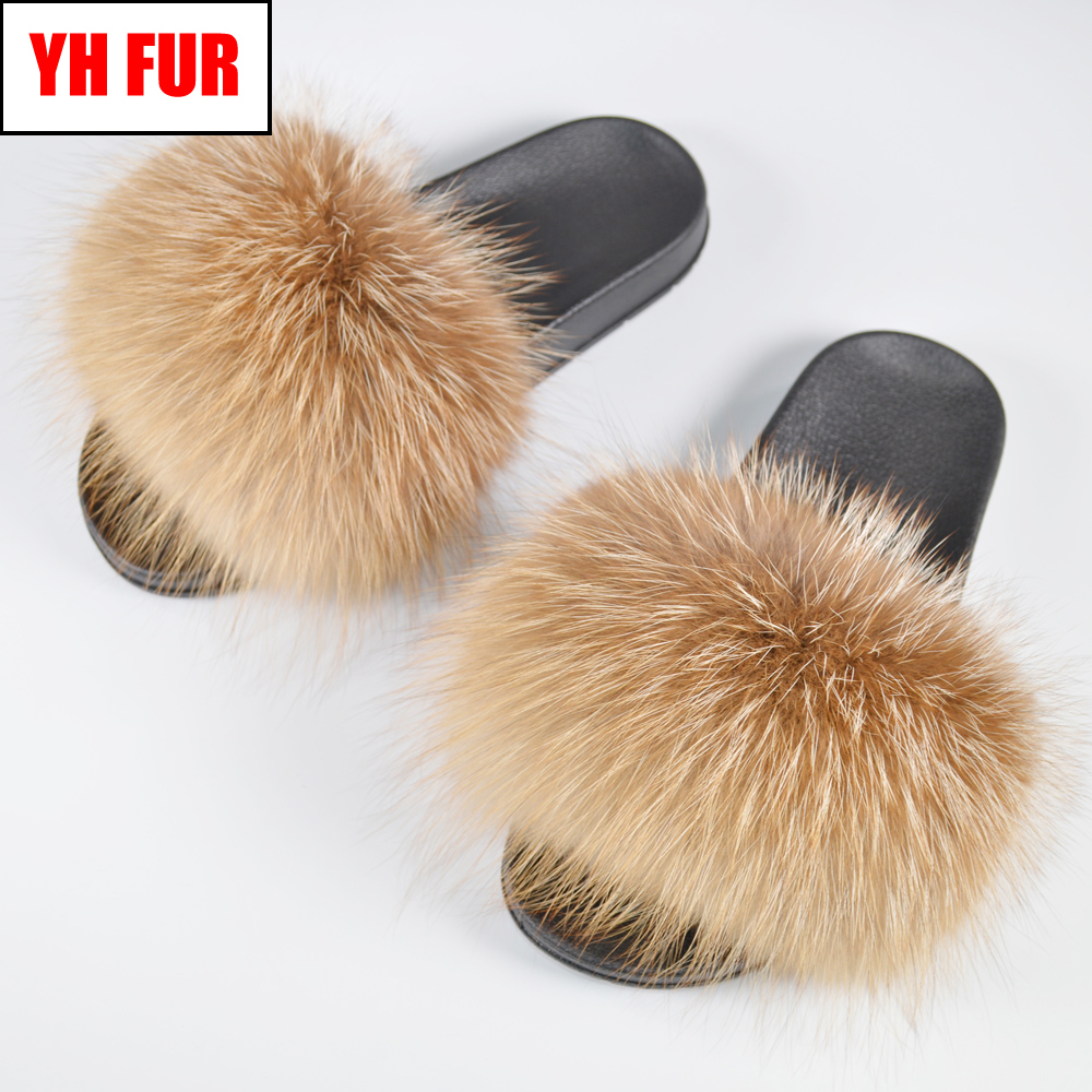 Hot Sale Women Real Genuine Fox Fur Slippers Summer Lovely Fluffy Real Fox Fur Slides Shoes Luxury Brand Fox Fur Flat SandalsHot Sale Women Real Genuine Fox Fur Slippers Summer Lovely Fluffy Real Fox Fur Slides Shoes Luxury Brand Fox Fur Flat Sandals