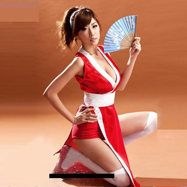 Free SizeThe King Of Fighters Red Dress Mai Shiranui Cosplay Costumes Japanese Anime Sexy Costumes Dresses 2