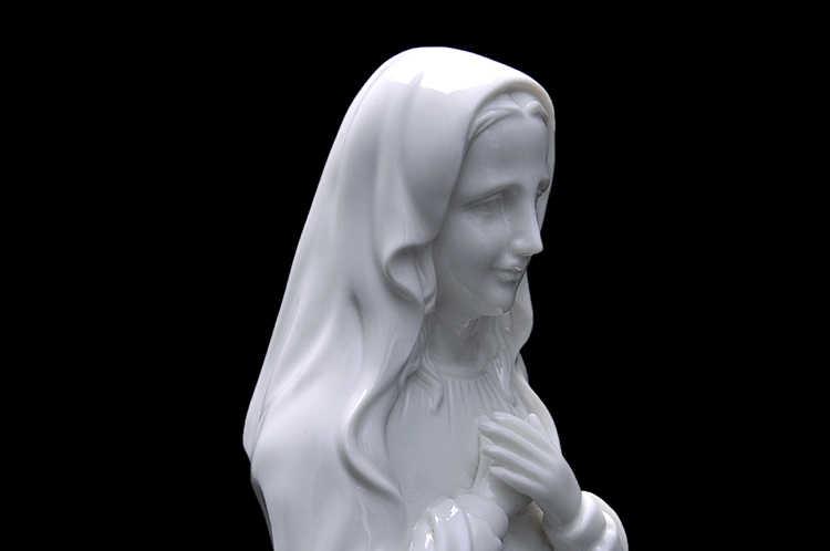 Our Lady of Mary Seramik Katolik Dekorasyon Düğün Hediyeleri Dekorasyon Zanaat Heykeli