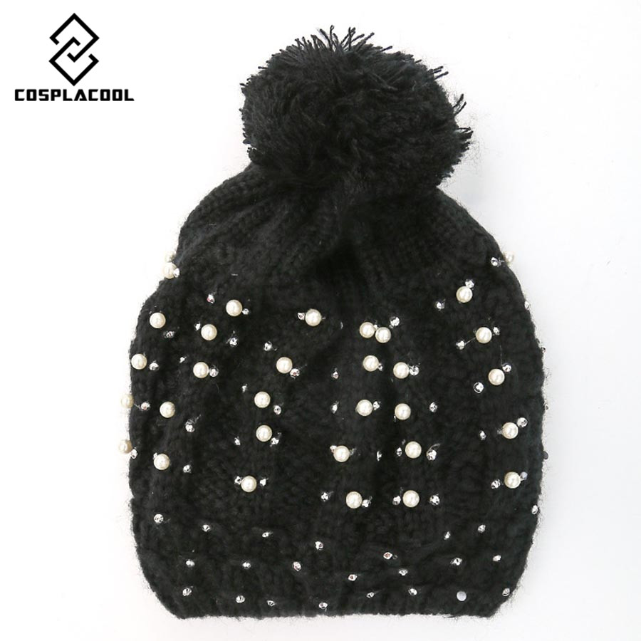 2016 New Fashion Woman's Warm Woolen Winter Hats Knitted Fur Cap For Woman Sooner State Letter Skullies & Beanies 5 Color Gorros 2016 new fashion letter gorros hats bonnets