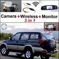 3 in1 Câmera de Visão Traseira Sem Fio + Receptor + Monitor Espelho Especial DIY Sistema De Estacionamento Para Nissan Terrano 1995 ~ 2005