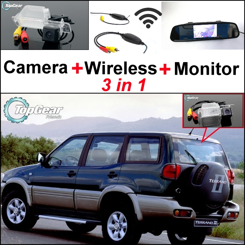 3 in1 Special Rear View Camera + Wireless Receiver + Mirror Monitor DIY Parking System For Nissan Terrano 1995~2005 special rear view wifi camera wireless receiver mirror monitor easy diy back up 3 in1 parking system for nissan terrano