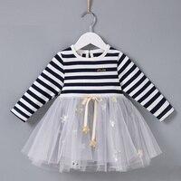Girls Dresses Kids Stars Princess Dress For Girls 2018 Winter Spring Patchwork Costumes Baby Casual Children