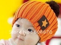 free shipping EMS-wholesale Baby hats children's knit cap kids Hats winter toddler caps Knitting Cap Beanie Kids' Caps
