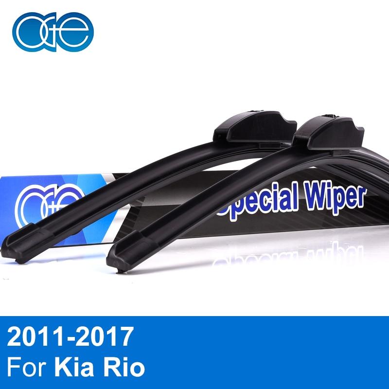 Oge Wischerblätter Für Kia Rio 3 k2 UB 2011 2012 2013 2014 2015 2016 2017 windschutzscheibe Windschutzscheibe Naturkautschuk Auto Zubehör