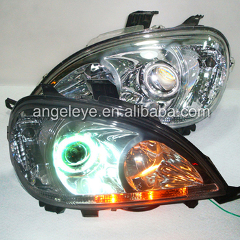 1998 TO 2005 year For Mercedes-Benz W163 ML320 ML350 ML430 LED Head Light Chrome Housing LF