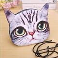 2017 new female package summer girls fashion small shoulder bag ladies 3D animales messenger bags cute cat leisure handbag hot