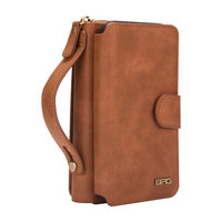 For iPhone X XS XR XS Max Case Multi function Zipper 2 In 1 Leather Case Handbag For Cover iPhone XR XS Wallet Purse Phone Case