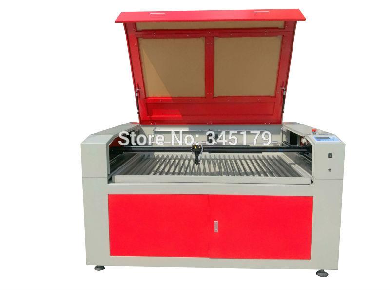 1490 100 w Co2 laser graver la table de travail de la machine de haut en bas utilisé pour l'acrylique ABS et d'autres matériaux non métalliques