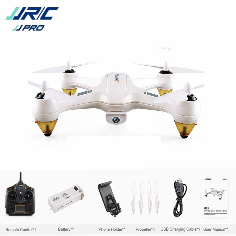 JJRC JJPRO X3 HAX Brushless Double GPS WIFI FPV w/1080 P HD caméra RC Drone Quadcopter Jouet RTF VS Eachine EX1 Hubsan H501S H502E