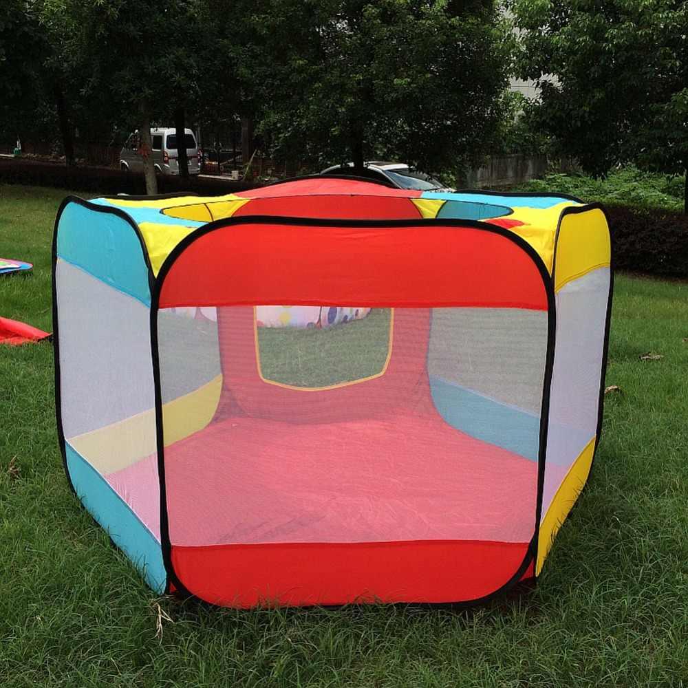 Casa di gioco Indoor e Outdoor Facile Pieghevole Oceano Piscina di Palline Pit Gioco Tenda Tenda del Gioco Capanna Ragazze Giardino Casetta Per Bambini Per Bambini tenda del giocattolo