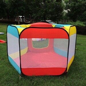 Image 5 - Draagbare Spelen Kinderen Tent Kinderen Indoor Outdoor Oceaan Ballenbad Vouwen Cubby Speelgoed Kasteel Enfant Kamer Huis Cadeau Voor Kinderen