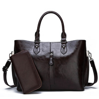 Women Leather Bags 2019 New Fashion Purses And Handbags Female Simple Shoulder Bag Solid Color Top handle Tote Bag Black Brown