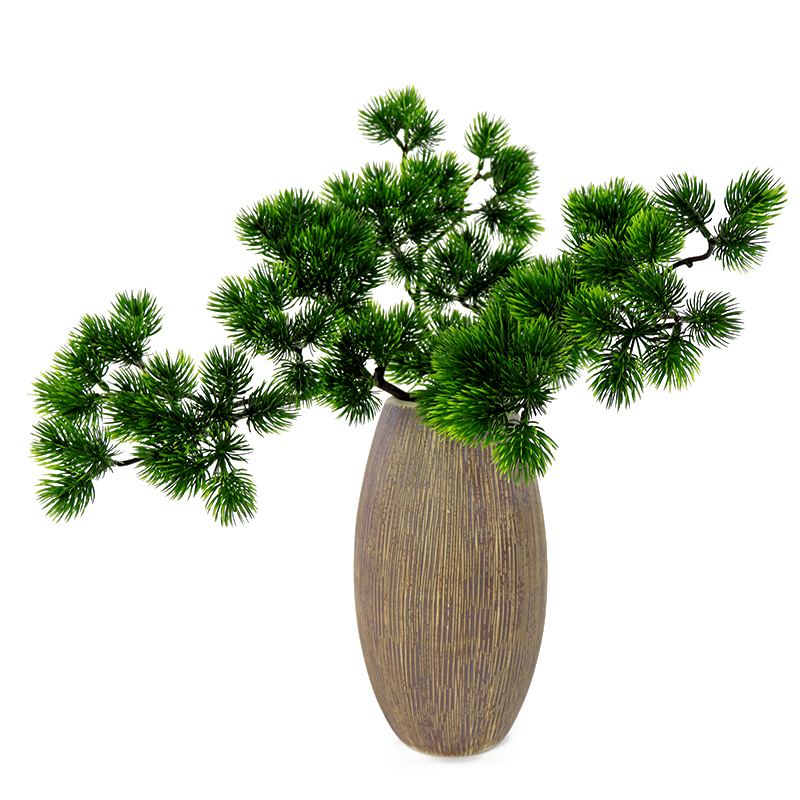 Single Big Pine Branch Simulation Green Leaves Plant Welcoming Pine Bonsai Accessories Home Decoration Plant Fake Flower 40cm