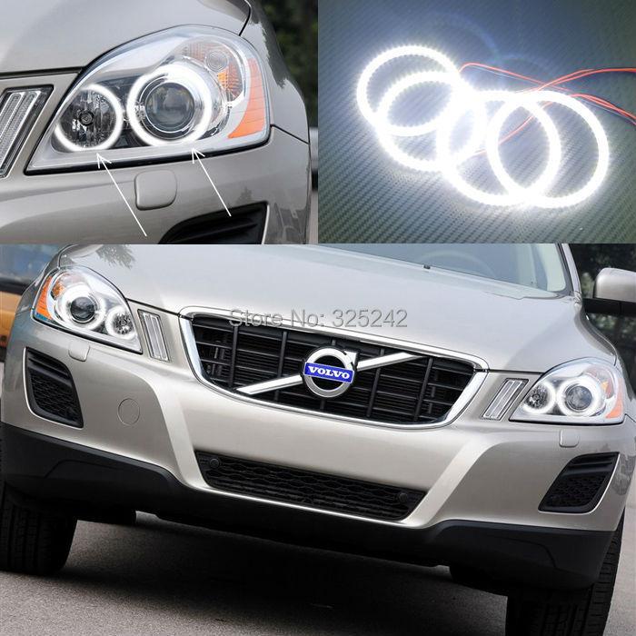 ФОТО For Volvo XC60 2009 2010 2011 2012 2013 XENON HEADLIGHT Excellent Angel Eyes Ultra bright illumination smd led angel eyes kit