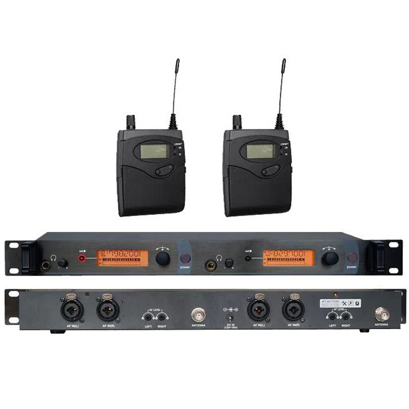 BK-2050 In Ear Monitor System 2 Channel stage ear monitors with 2 receiver monitor wireless in ear stage system monitor studio