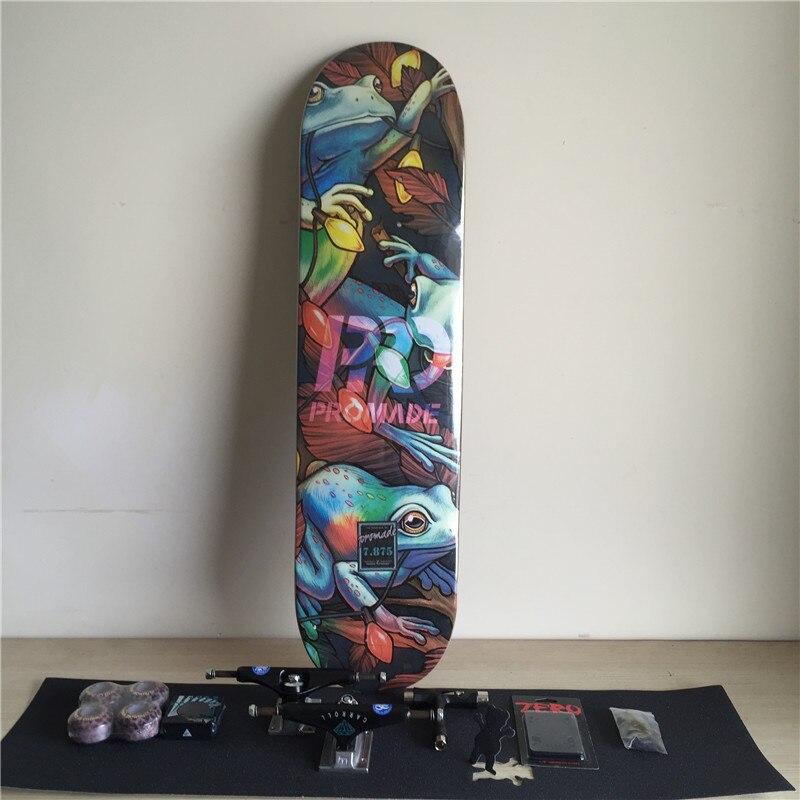 8b95b815fd9fa ✓Skate Pro Completo Conjunto Convés de Bordo Canadense Skate ...