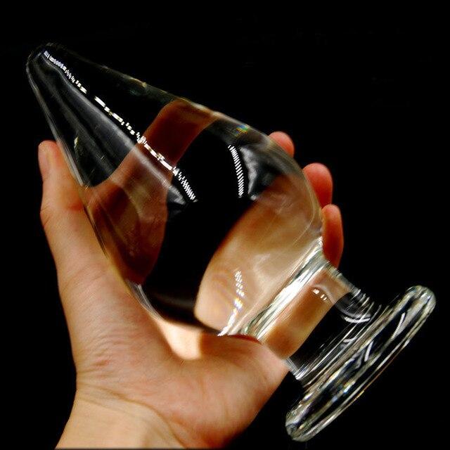 Диаметр 3 дюйма супер большой стекло большой анальный плагин взрослые продукты buttplug секс-игрушки для женщин расширитель расширитель butt plug стимулятор