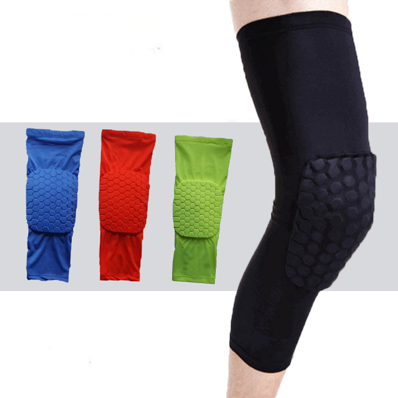 Breathable Sports Protector Basketball Knee pads Shooting Sport Safety Kneepad Honeycomb Pad Bumper Brace Kneelet professional sports kneepad warm air drying