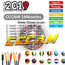 2019 Europe 7 Cline for Satellite Receiver Cccam cline 1 year spain freesat v7hd Receptor Spain Server