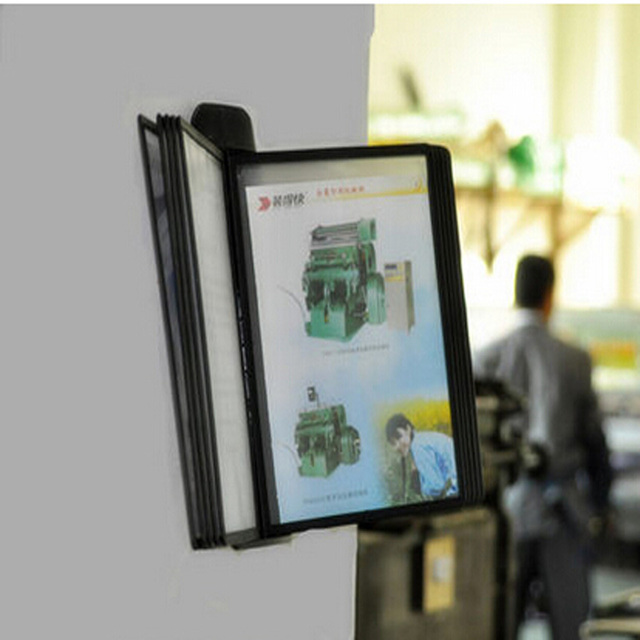pageflip page file holder wall mounted display rack black sleeves pages document picture also rh aliexpress