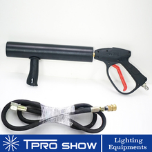 DJ Gun CO2 Jet Hand Held Pistola CO2 FX Effect Machine Cryo Cannon 3 Meters Gas Hose for Stage Event Live Show Singer