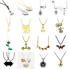 Fashion necklaces 2019 Stethoscope flower wonder woman dumbbell puzzle necklace men Fitness jewelry Chain Necklace Collares(China)
