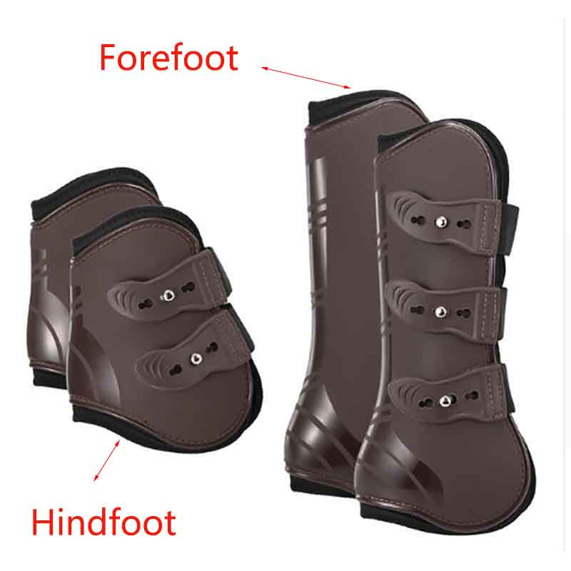 Horse Leggings PU And Neopreen Leg Protector Harness Equestrian Horse Riding Leg Boots Equipment Accesories Horse Bracers