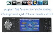 Nueva radio de coche 1 Din en el tablero estéreo del coche de control remoto MP4 reproductor de audio del coche Tarjeta SD Puerto USB AUX FM