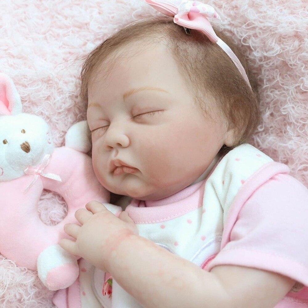 22 дюймов реалистичные Новорожденные Кукла реборн игрушки всего тела мягкого силикона виниловые для новорожденных спальный bebe игрушки кукл