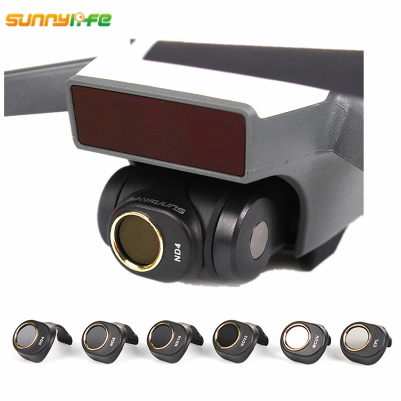 Sunnylife DJI Spark Gimbal Camera Lens Filter Combo Multi-Layer Coating Films ND4 ND8 ND16 ND32 MCUV CPL for HD Clear Lens