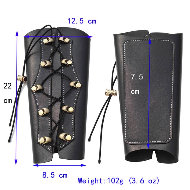 Archery Arm Guard Hunting Traditional PU Leather Arm Restraint Protector Target Arm Guard Protection Shooting Archery Accessory