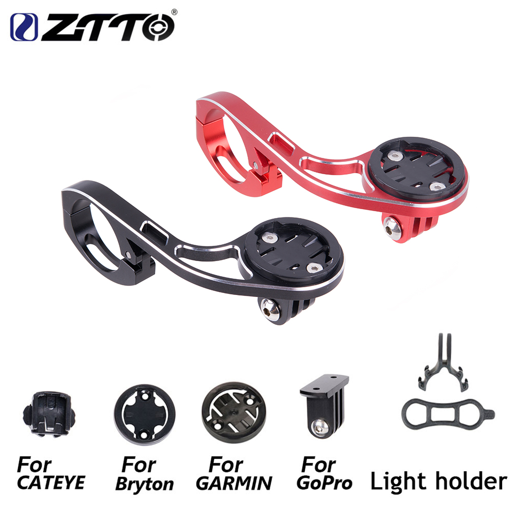 ZTTO MTB Bike GPS Phone Holder for GARMIN CATEYE GoPro Sports Camera Light Mount Handlebar Extension on Front Bracket in Bicycle Handlebar from Sports Entertainment