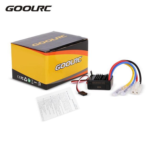 GoolRC 60A ESC Brushed Controlador de Velocidade Elétrico com 5 V/2A BEC para 1/10 Modelos Comuns RC Peças de Carros Consumer Electronics