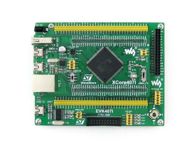 STM32 Module STM32F407IGT6 development board, with USB HS/FS, Ethernet, NandFlash, JTAG/SWD, LCD, USB TO UART = EVK407I