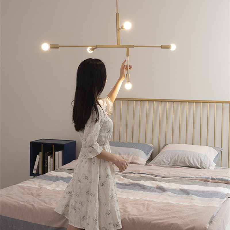 Nordic Modern Gold LED Pendant Lights Household Bedroom Dining Room Lamp Creative Personality Magic Bean DroplightNordic Modern Gold LED Pendant Lights Household Bedroom Dining Room Lamp Creative Personality Magic Bean Droplight