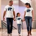 BEAR FAMILY Papa Mama Baby Brother Sister Print T-shirts Men Women Kids Boys Girls Cotton White Novelty