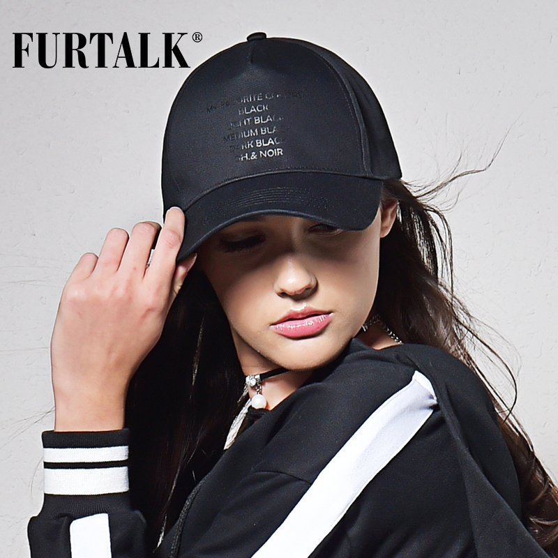 FURTALK black   caps   for women and men   baseball     cap   fashion brand summer snapback boating skiing climbing Windcap for windy days